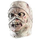 SKYEI Máscara de Halloween Halloween Horror máscara mamá máscara asquerosa pudrición Cara Cabeza Sombrero Disfraz Fiesta Haunted House Horror Accesorios asustar Gente Blanco (Color : White)