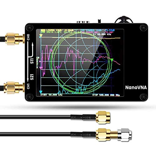 Vector Network Analyzer, Elikliv Mini HF VHF UHF Antenna Analyzer with 10KHz-1.5GHz 2.8 Inch Digital LCD Display Touching Screen Standing Wave Measuring Instrument