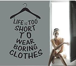 Xiaopang inspirerande fraser väggklistermärken hängare väggdekaler garderob dekoration hushållsartiklar sovrum garderob de...