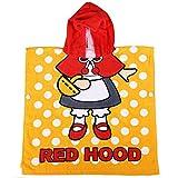 Toalla niños Capa Beach Niños Bebé Caricatura linda Capucha roja Patrón Súper absorbente de agua Traje de baño Traje de baño Toalla Bata de baño de algodón orgánico Toalla de baño con capucha de playa