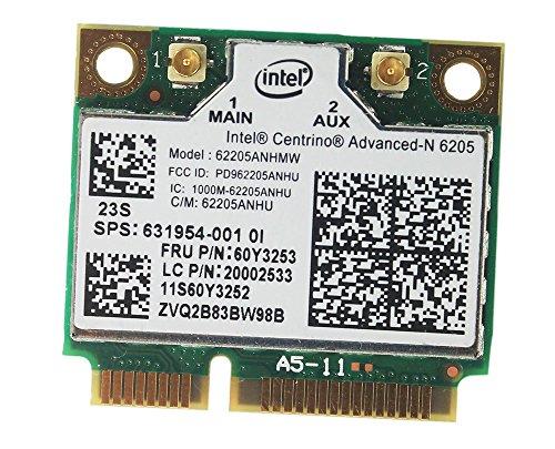 Intel Centrino Advanced-N 6205 62205HMW tecnología wirelesswireless para IBM Lenovo Thinkpad x220 x220i t420 60Y3253