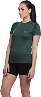 قمصان نسائية ممتصة للرطوبة من Silvertraq، أكمام قصيرة، الركض/الصالة الرياضية/اليوغا بمقاس XS-3XL