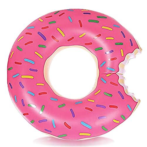 DMAR Pool Floats Donut Inflatables Donut Tube Pool Float Donut Pool Floats for Kids Donut Floatie Doughnut Pool Float Donut Swimming Ring for Beach Pool, 23.4″, 1Pcs, Pink