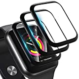 [3 Pack] Screen Protector for Apple Watch Series 3/2/1 38MM Bubble-Free, 3D Full Coverage Anti-Scratch Shatter-Proof HD Clear Waterproof Screen Protector Film for Apple iWatch 38MM Series 3/2/1