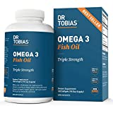 Dr.  Tobias Omega-3 Fish Oil, Triple Strength, Supports Brain and Heart Health, 2000mg Per Serving, 180 Soft Gels (2 Daily)