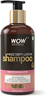 WOW Frizz Defy Luster No Parabens, Sulphate & Silicone Shampoo, 300mL