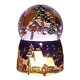 Juguete De Bola De Nieve - Globo De Nieve Musical De Navidad, Caja De Música Bola De Cristal Base De Resina De Regalo Con Luz Luminosa LED De Cambio De Colores Decoración Para El Hogar