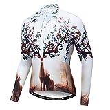 JPOJPO Herren Fahrradtrikot Frühling Herbst Langarm Fahrradtrikot Fahrradbekleidung S-XXXL atmungsaktiv, schnell trocknend, Tasche - - XXL Brust 108/114 cm