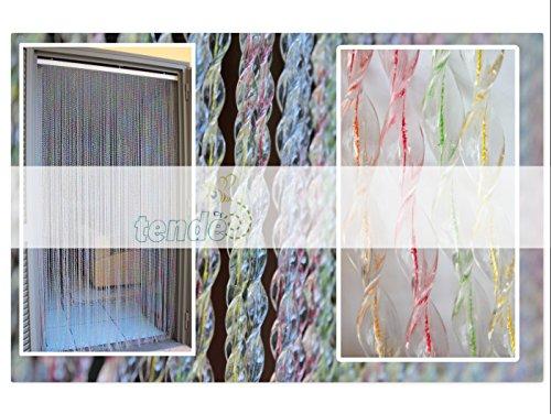 Cortina de PVC Modelo Capri - Medidas estándar (100X220 / 120X230 / 130X240 / 150X250) - Cortina de la puerta - Cortina mosquitera (100X220, Multicolor)
