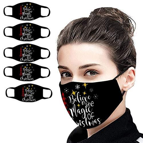 SHUANGA Weihnachten Anti Verschmutzung Pollen Staub Mehrweg Mundschutz für Radfahren Reiten Staubdicht Outdoor Frauen Herren Face Cover Waschbar Wiederverwendbare Schutz Drucken Gesichtsschut