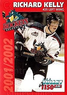 (CI) Richard Kelly Hockey Card 2001-02 Kelowna Rockets 11 Richard Kelly