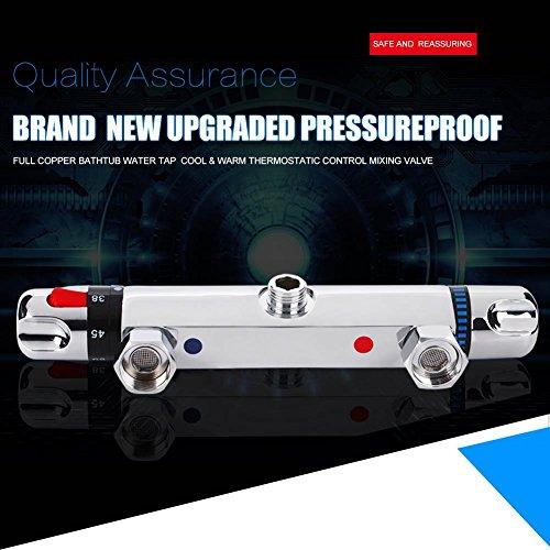 Nannday 【 】 Válvula mezcladora termostática, Moderno Cromo Ducha termostática Mezclador Barra...