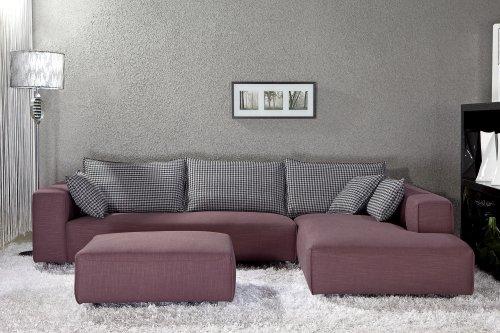 Hot Sale EXCLUSIVE MODERN FURNITURE EDITION #17: Bennetti Modern Sectional Sofa Milano +Ottoman
