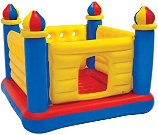 Intex Jump-O-Lene Castle Inflatable Bouncer, Size 69X69X53IN, 48259, Soft inflatable