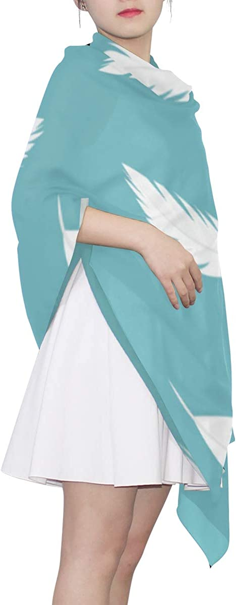 Lightweight Scarfs For Men Blue Feather Magical Style Scarf Women Summer Designer Scarf Lightweight Print Scarves Fashion Scarf Fashionable Head Scarfs For Women Cute