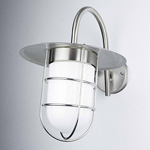 Buitenlamp DOVER roestvrij staal IP44 robuuste maritieme design wandlamp buitenhuis balkon