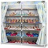 DFYYQ 7 Niveles de la Torre de Zapatos Estante de pie, gabinete del Organizador del Almacenamiento de Zapatos para el vestíbulo de Entrada del Armario, con Cubierta a Prueba de Polvo (tamaño: b)