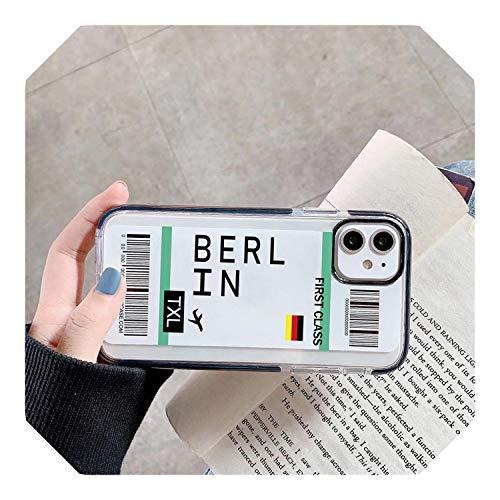 Codice a barre di prima classe biglietto di volo custodia per Samsung S20 Plus S10 E S9 Note 10 9 INS Lettera Soft Silicone Cover Coque
