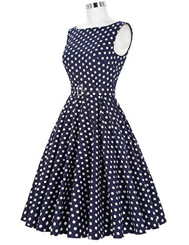 Damen Petticoat Kleider 50er Festliche Kleider Knielang XL BP002-33 - 5