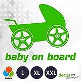 Decus Baby On Board Kinderwagen XXL 0181 (Verde) // Adesivo OEM JDM Style Vinyl Transfer