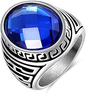 OPK Stainless Steel Blue Ring for Man