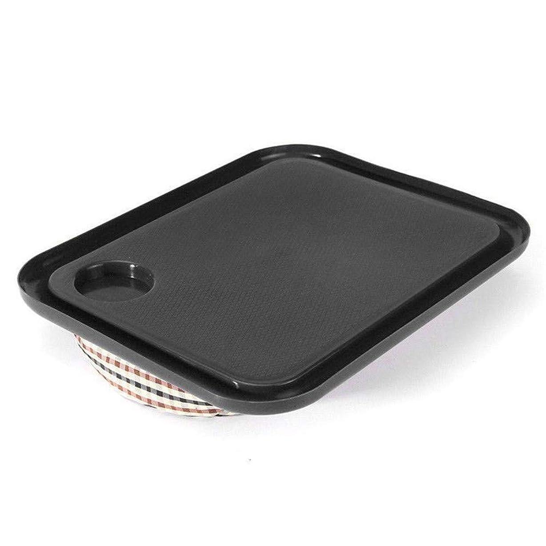 サイドボード例ペチュランスLVESHOP 屋外ポータブルハンディラップトップトレイホルダーラップトップテーブル学習朝食机 (色 : Black)