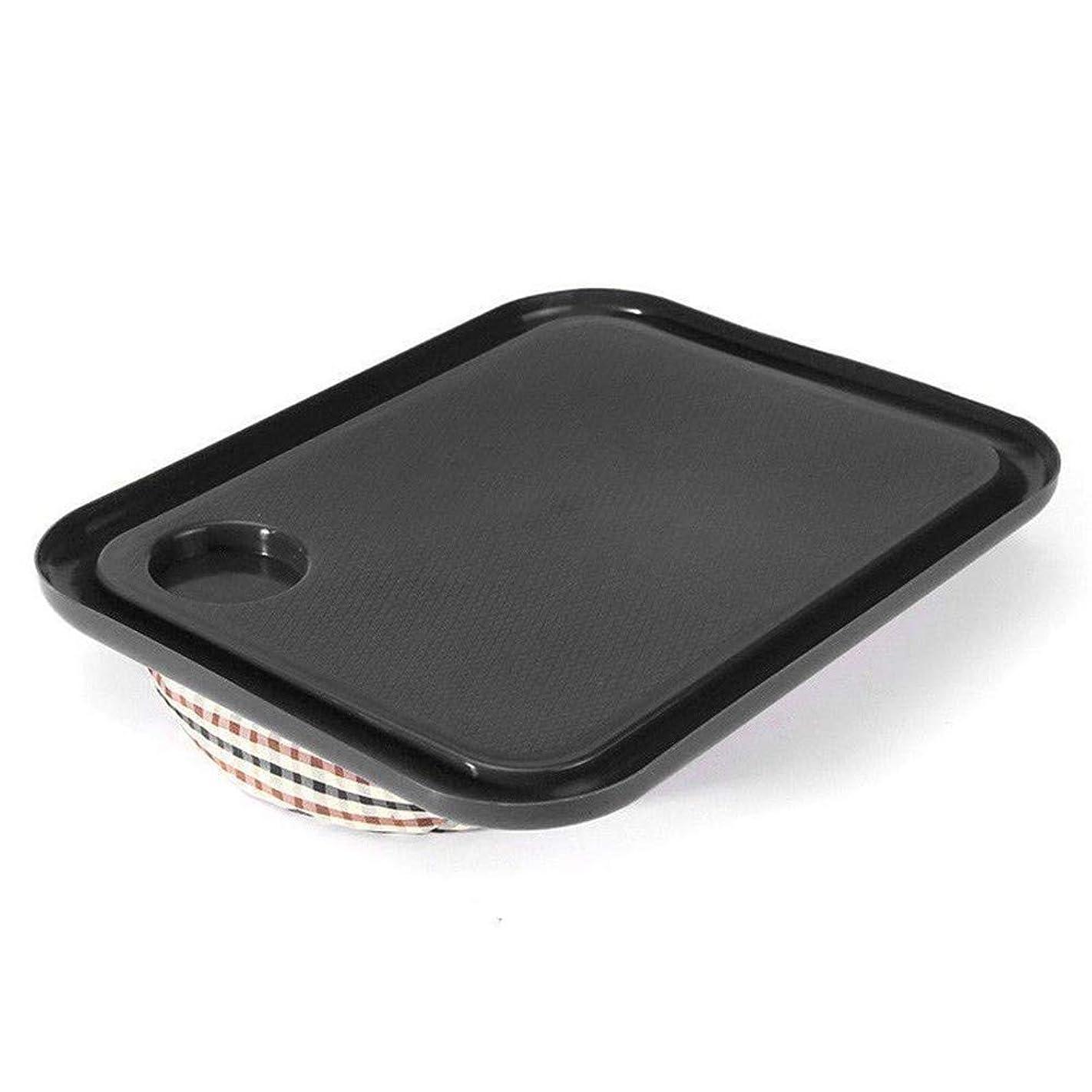 真向こうアスリートバトルLVESHOP 屋外ポータブルハンディラップトップトレイホルダーラップトップテーブル学習朝食机 (色 : Black)