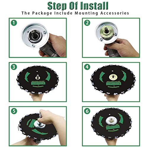 Chainsaw Tooth Brush Blade 9 inch 20 Tooth 10000 RPM for Cutter, Trimmer, Weed Eater Lawn Mower Circular Saw Blade Electric Weeder Accessories(Adapter Included)