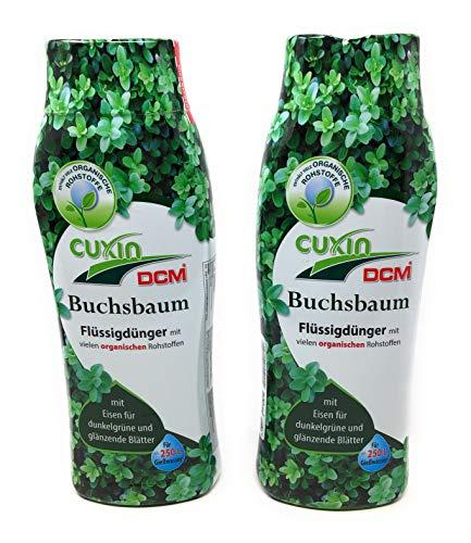 Cuxin Flüssig Buchsbaumdünger für ca. 500 Gießwasser⎜+Gratis Bodenanalyse (2X 800 ml flüssig)