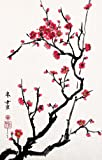 Cherry Blossoms, Giclee Print of Chinese Brush Painting, 12 x 18 inches