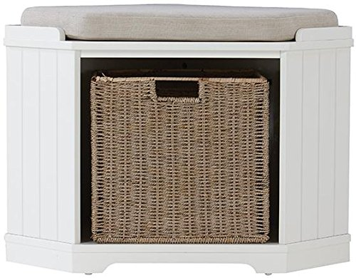 Home Decorators Collection Whitaker Corner Bench, 20' Hx28 Wx20 D, White