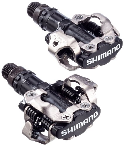 SHIMANO MTB Pedal para Bicicleta, Unisex, Negro