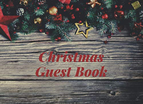 Guest Book Christmas | Merry Rustic Wood : Warm wishes for cold season: For party and seasonal celebrations