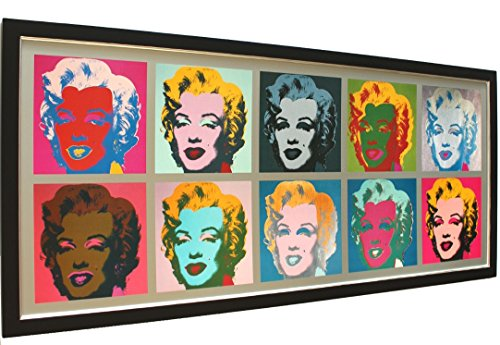 Imagen Póster De Impresión Andy Warhol Marilyn Monroe Pop art con marco 142x 64cm + + Sale + +