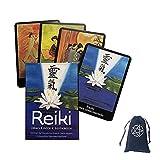 Reiki Oracle Deck Oracle Tarjetas con Bolsa De Terciopelo,Reiki Oracle Deck Oracle Cards