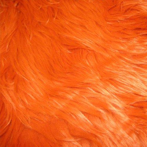 """Orange Shag Faux Fur Fabric 60"""" Wide High Quality"""