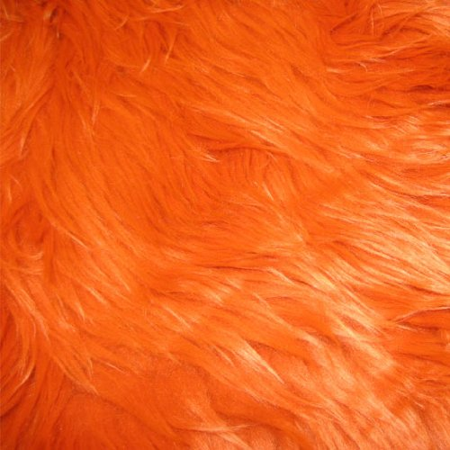 "Orange Shag Faux Fur Fabric 60"" Wide High Quality"