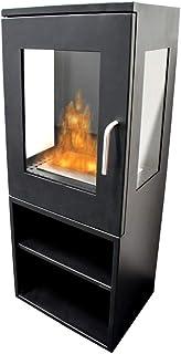 Tecno Air System - Estufa de bioetanol Ruby Sappada, color negro, hierro