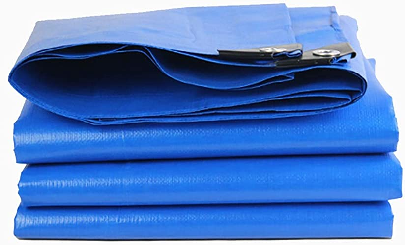 Bache de Prougeection épaississante De Prougeection écran Solaire Imperméable Imperméable à l'eau De Pluie De Prougeection Solaire PC Orange Bleu 180   Vis (Taille   6X12M)