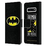 Head Case Designs Officiel Batman DC Comics Classique Logos Coque en Cuir à Portefeuille Compatible...