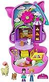 Polly Pocket Cofre con forma de cerdito en la granja, con muñecas y mascotas, juguete...