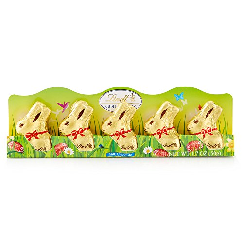 Lindt Mini Gold Bunny, Milk Chocolate, 1.76 Ounce (Pack of 5) from Lindt Chocolate