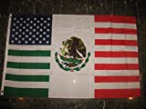 3x5 Feet USA Mexico Combination Flag Mexican American Friendship 3'x5' Flag with grommets