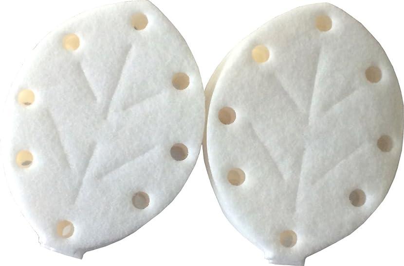 各真空乳白アロマブリーズ NEWリーフ型 詰替えマット (10枚入り)