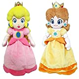 2pcs Super Mario Princess Peach Daisy Plush Cute Classical Game Kids StuffedToys For Children Gifts 23cm