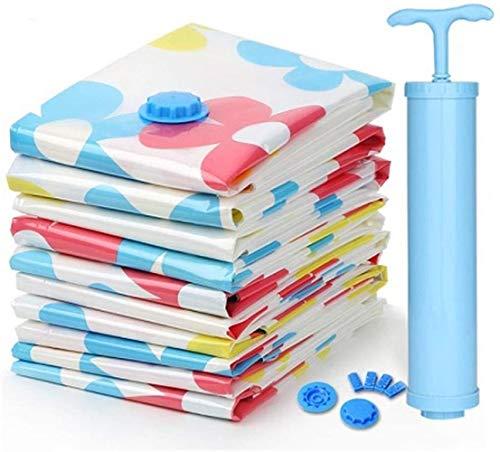 Storage Bag Bolsa de almacenamiento al vacío se utiliza para edredón, ropa de cama, almohada, ropa, colcha, suéter, colcha, ropa, maleta, 5 bolsas (130 x 100 cm) hermoso (color: rojo)