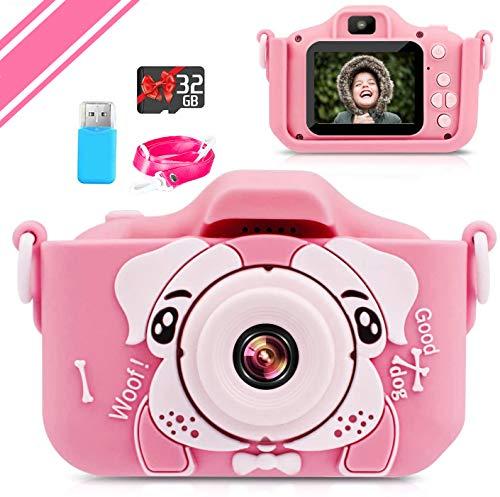 【2021新しい】子供用 カメラ Poulep 人気 子ども用 デジタルカメラ トイ 防水 女の子 男の子 誕生日プレゼント 知育 教育 2000万画素 1080P 自撮可能 32GBSDカードと日本語取扱説明書が付属