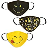 Kids Face Mask Washable, Reusable with Premium Protection for Boys, Girls, and Children Ages 3-12 Years - All Color - Small - 3pack