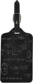 Semtomn Luggage Tag Chalkboard Blackboard Relativity and String Theory Equations Formulas Hand Suitcase Baggage Label Travel Tag Labels