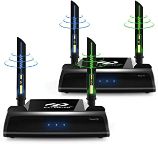 PAKITE PAT-590 ワイヤレスHDMI送受信機セット WUXGA/3D映像/1080P対応 最大150m無線伝送可能 赤外線リモコン対応 映像と音声を無線転送 受信機側リモコン操作可 簡単接続 日本技適マーク取得品